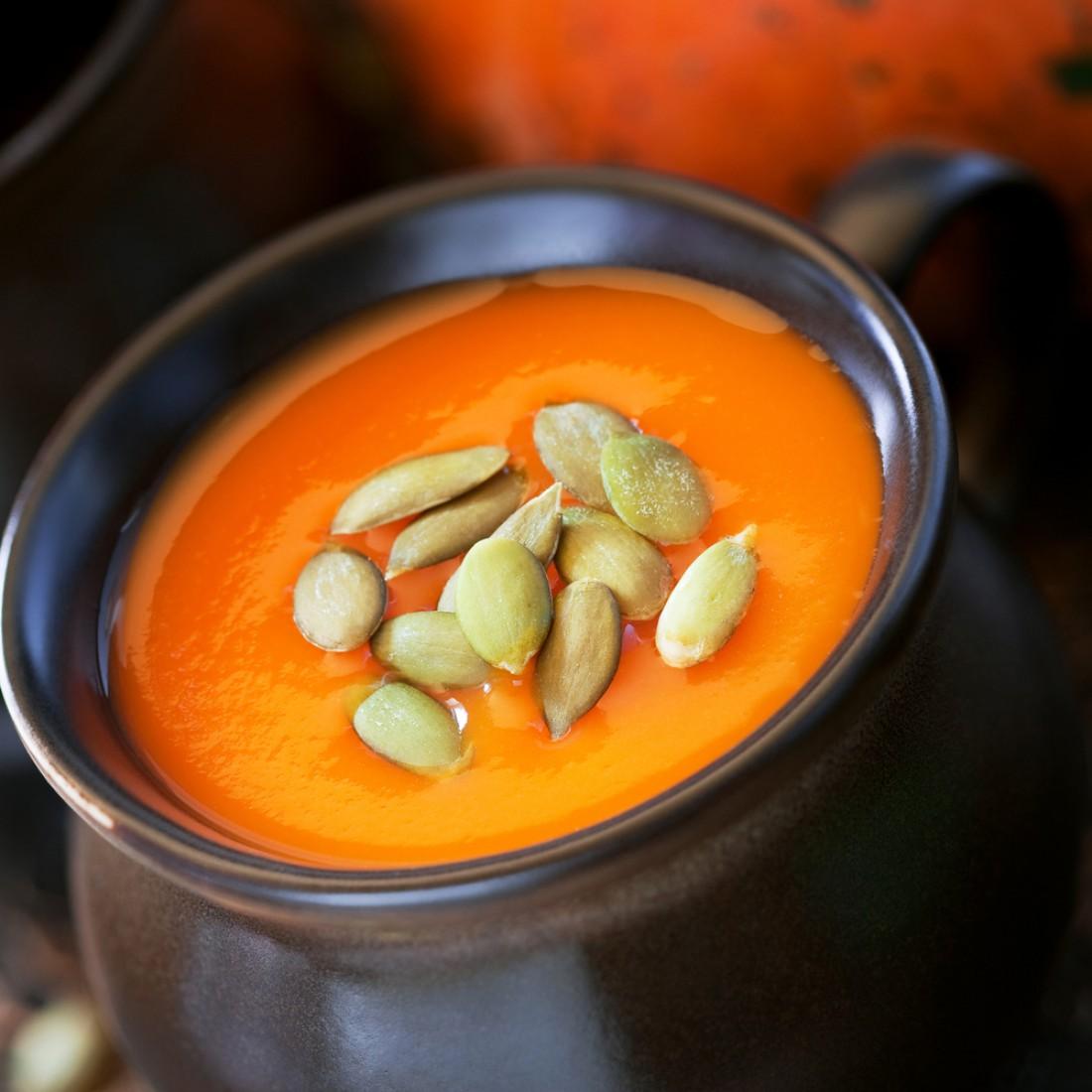 тыквенный крем суп с плавленым сыром