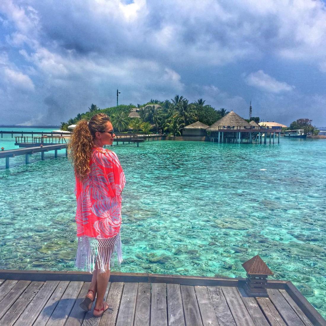 Яна отдыхает на Мальдивах