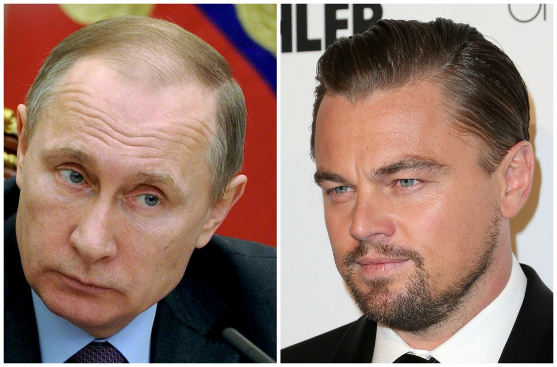 Владимир Путин и Леонардо Ди Каприо