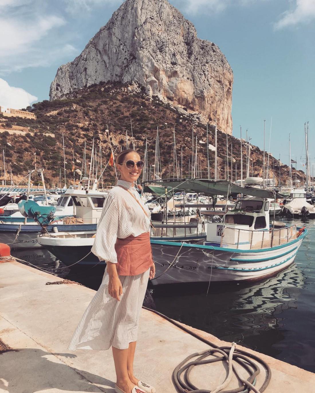 Катя Осадчая и Юрий Горбунов отдыхают в Испании