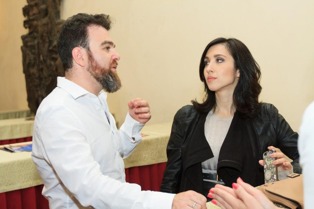 Анна Завальска с мужем Дмитрием Саратским (соучредителем театра)