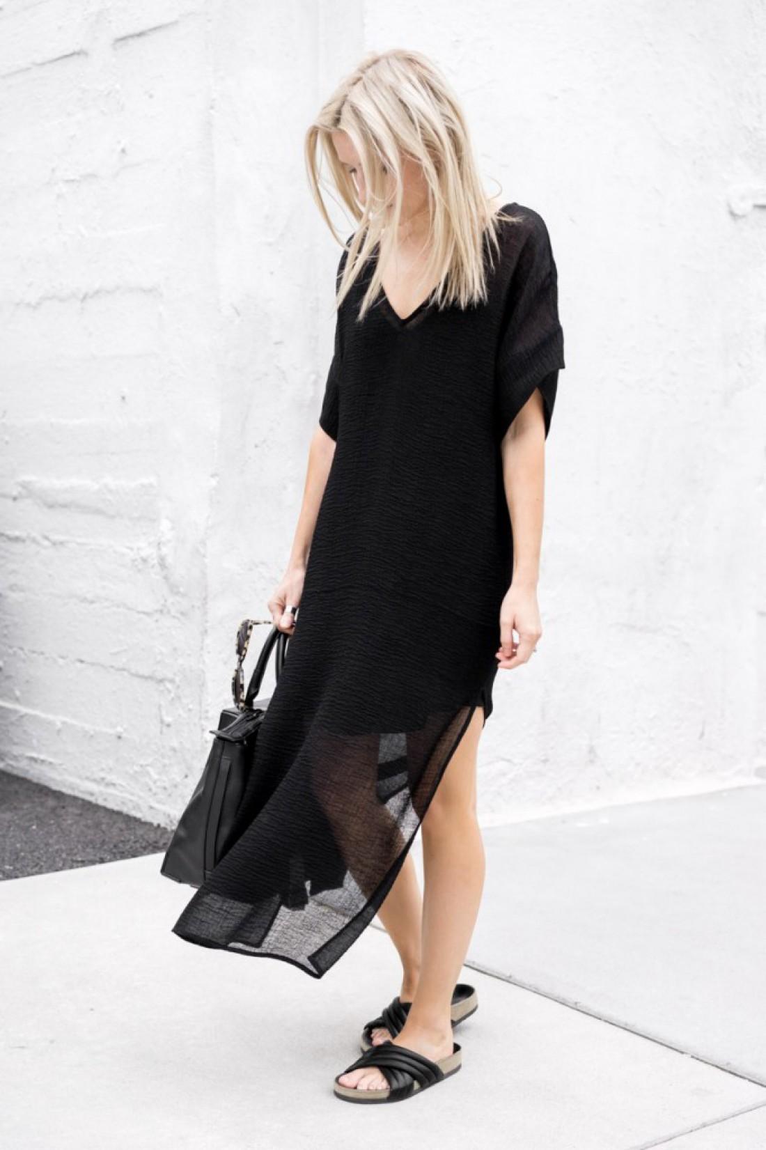 Как носить черный летом: вариант №1