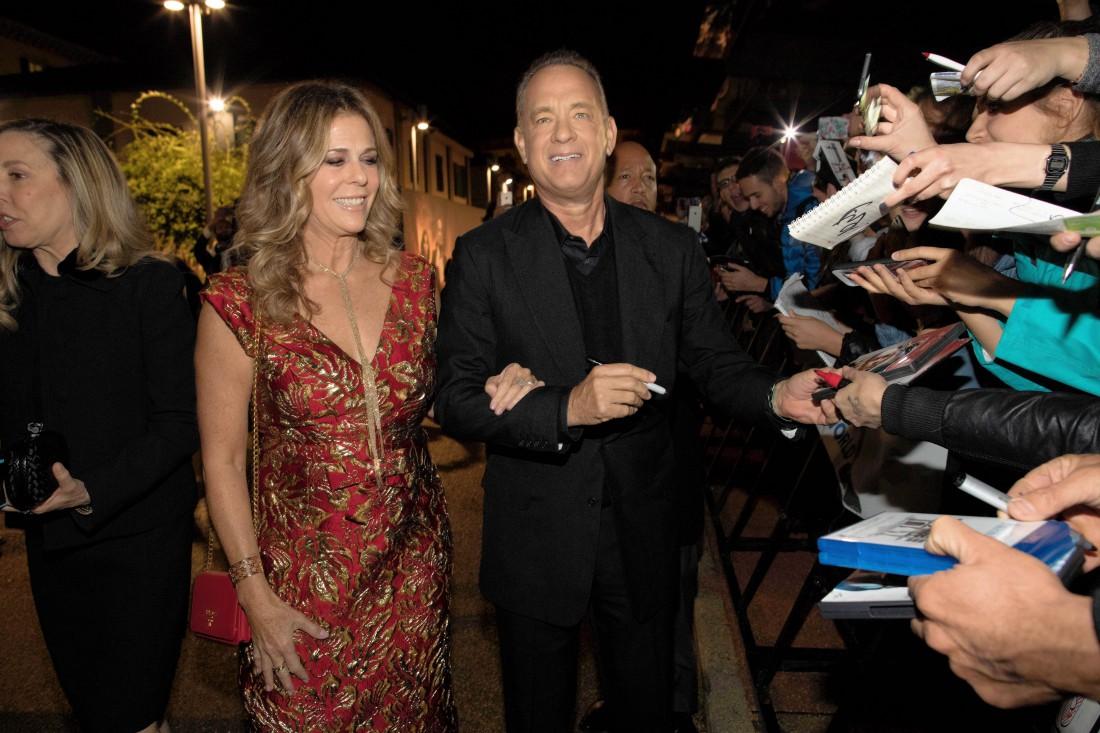 Том Хэнкс с женой на премьере во Флоренции
