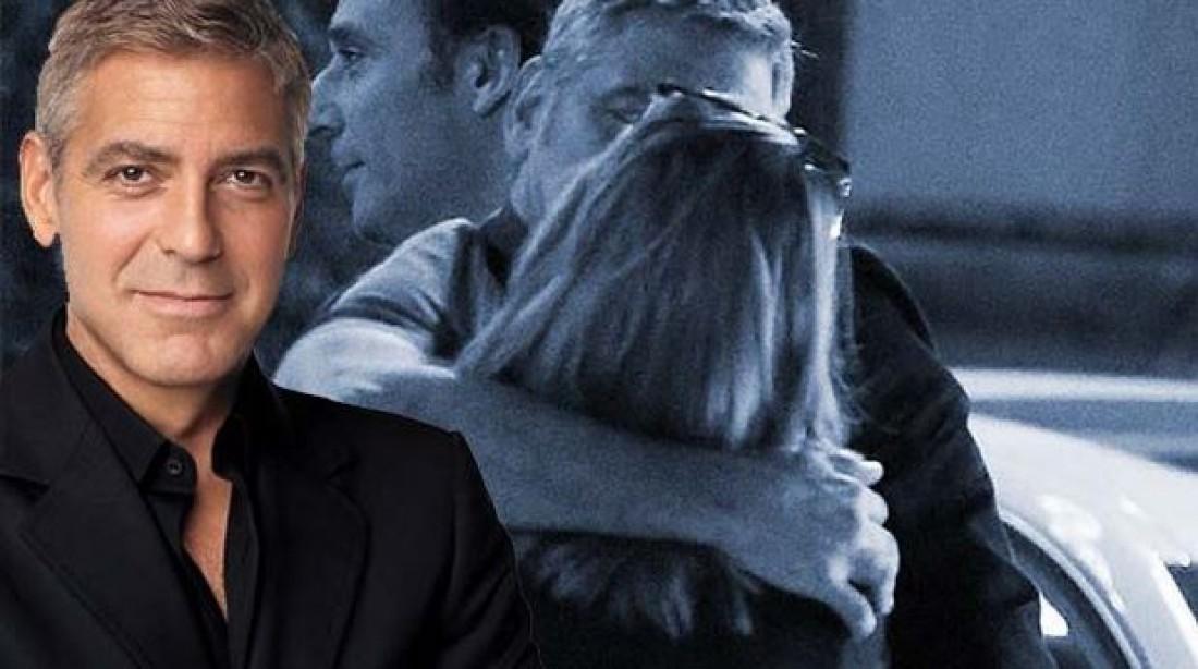 Джордж Клуни с загадочной блондинкой