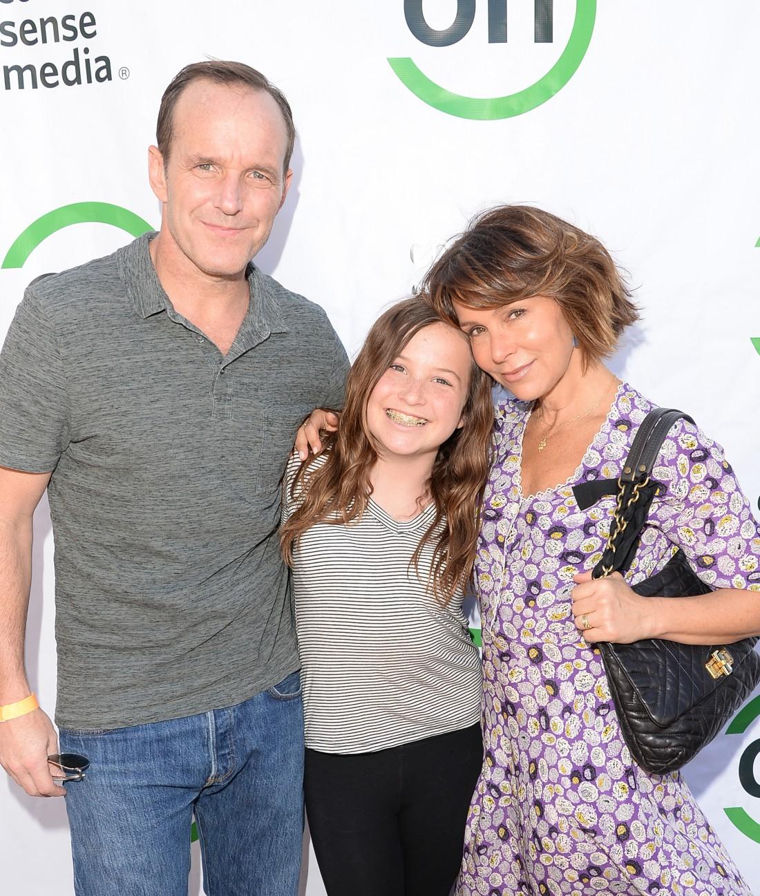 Грей с дочкой и мужем