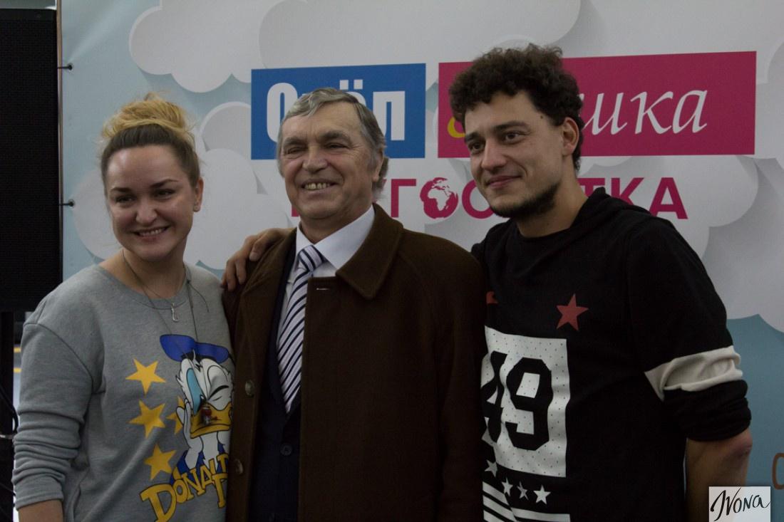 Елена Синельникова с мужем и папой