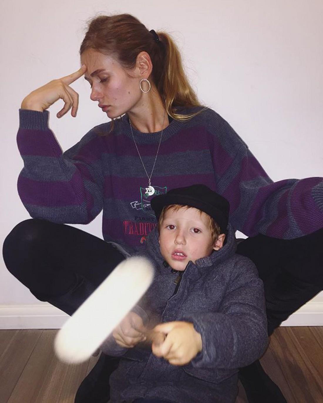 Кристина с сыном