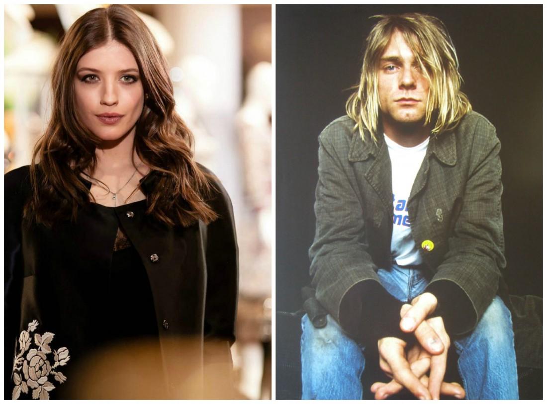 Анна Чиповская и Курт Кобейн (солист группы Nirvana)