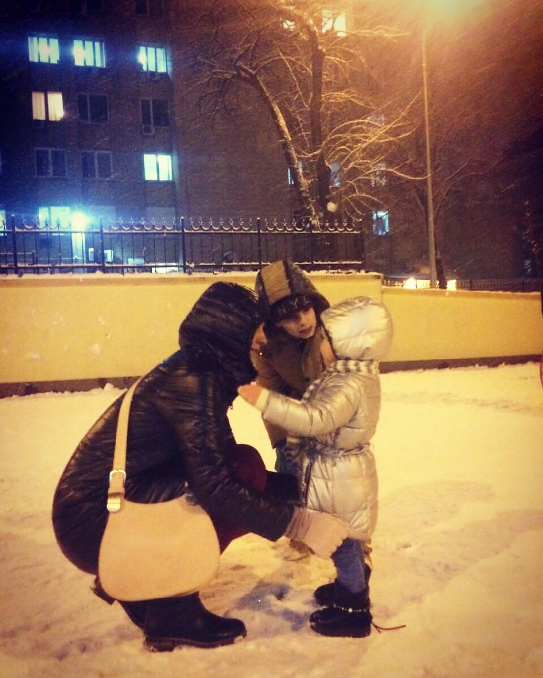 Юлия Бортник с детьми