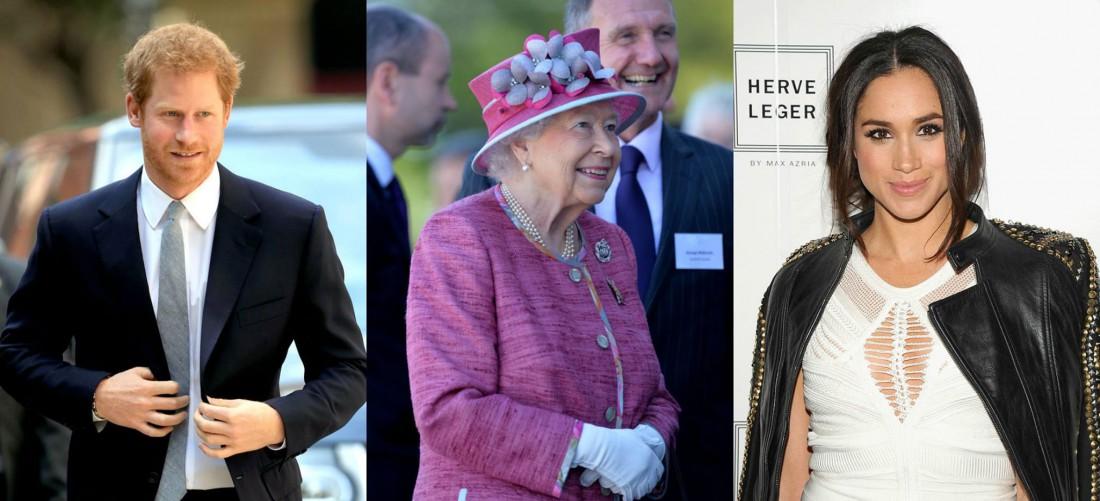 Принц Гарри, Елизавета II и Меган Маркл