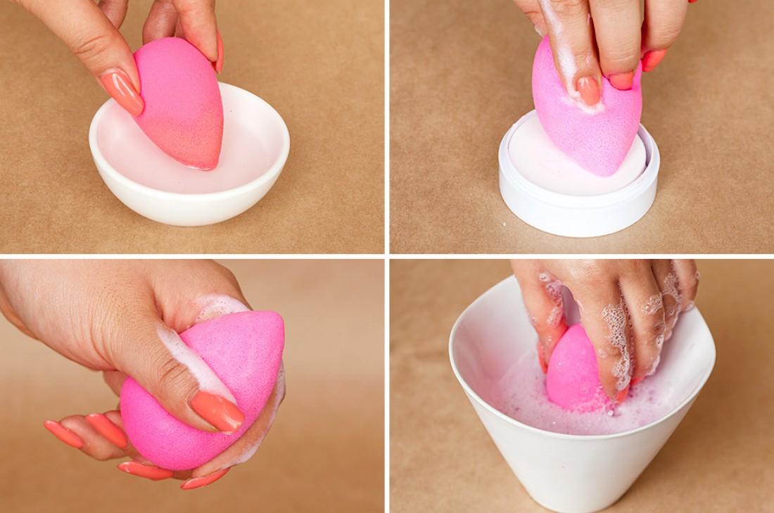 как очистить спонж для тонального крема