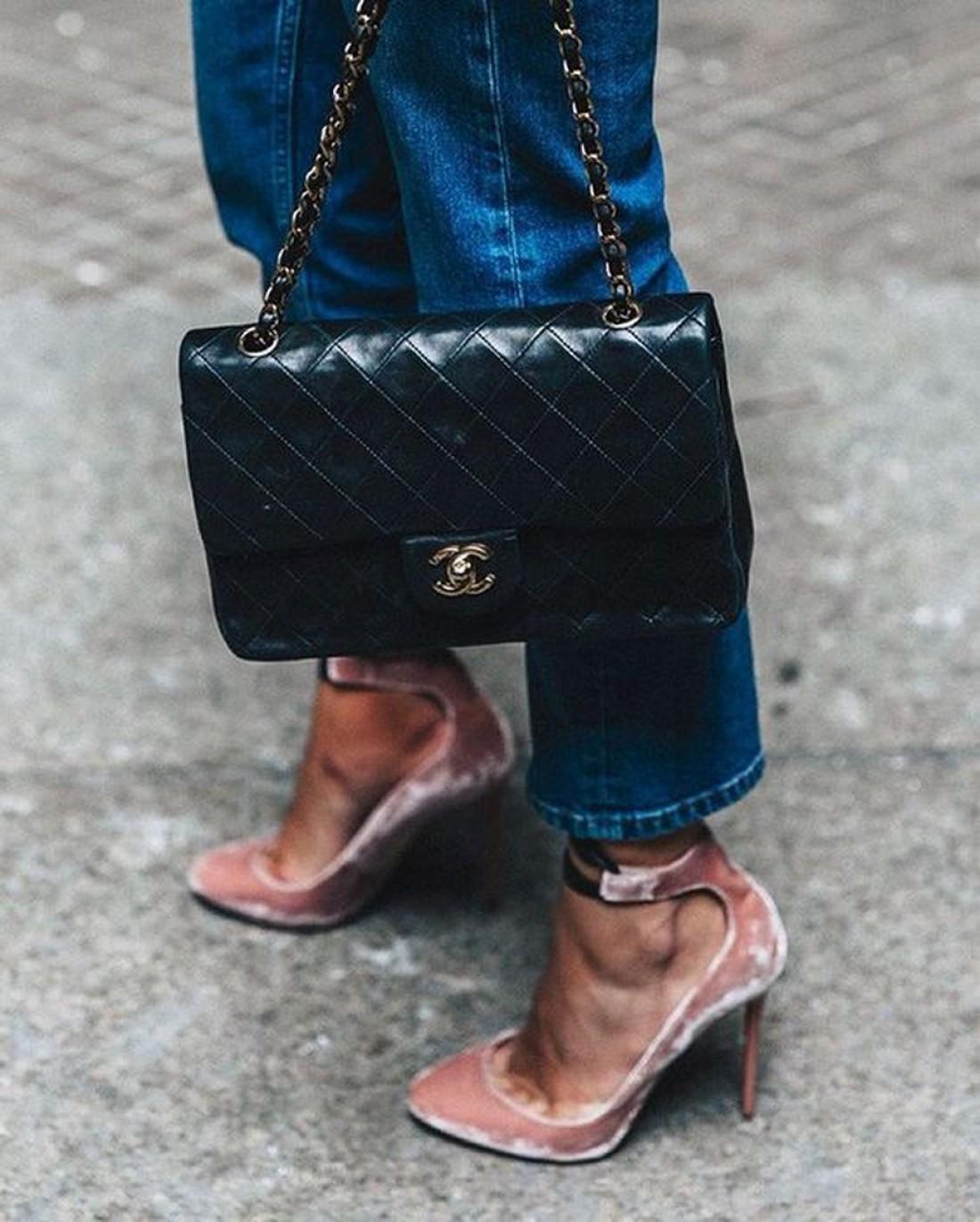 Туфли из бархата
