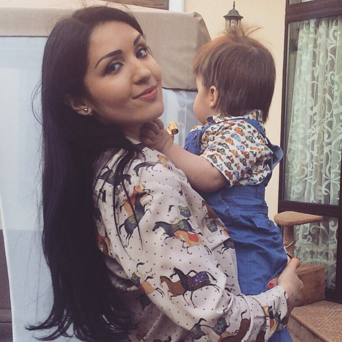 Ангелина с сыном Кириллом