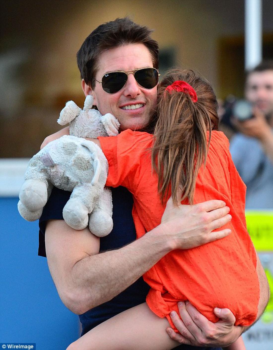 Том Круз с дочерью Сури Круз в 2012 году