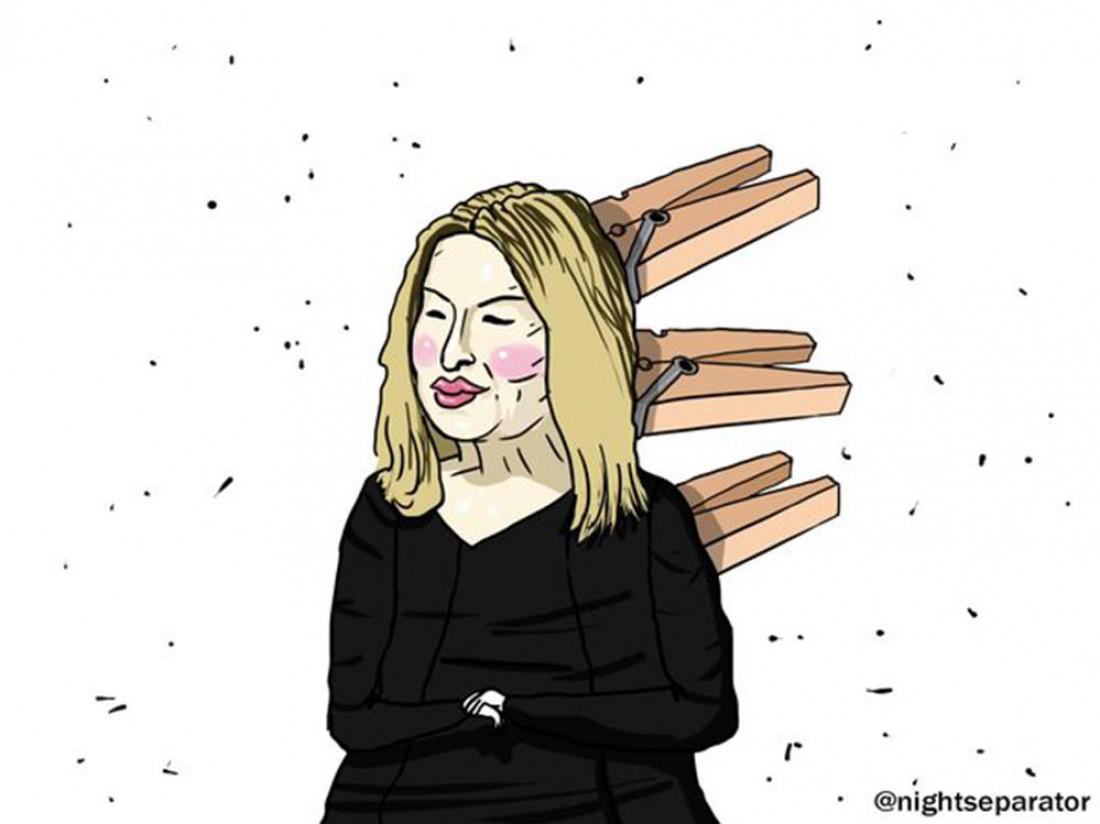 Карикатура на Анну Герман
