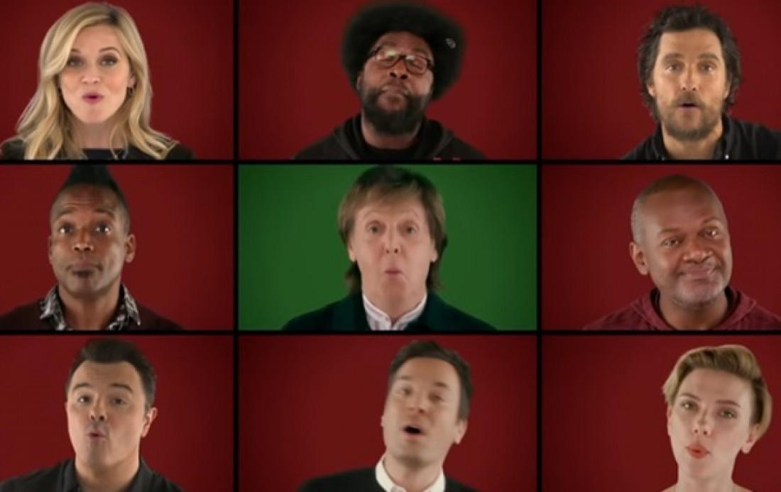 Звезды спели рождественскую песню