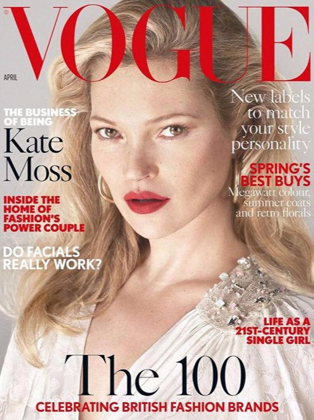 Кейт Мосс на обложке британского Vogue