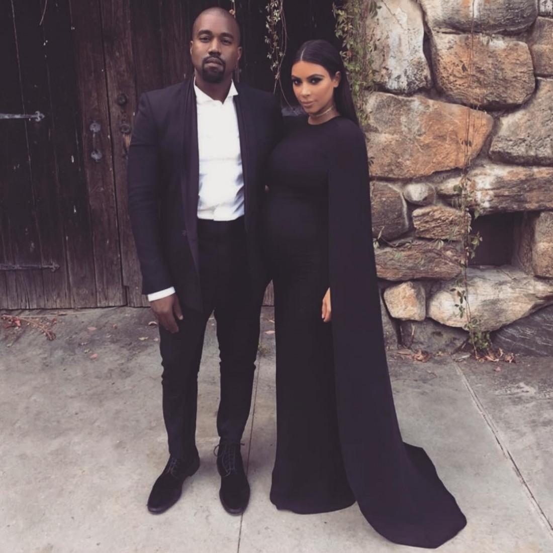 Ким Кардашян с мужем Канье Уэстом