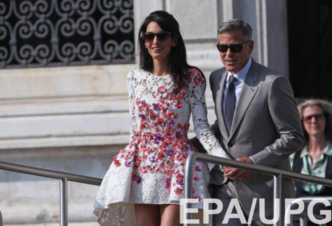 Амаль и Джордж поженилась в Венеции 28 сентября 2014 года