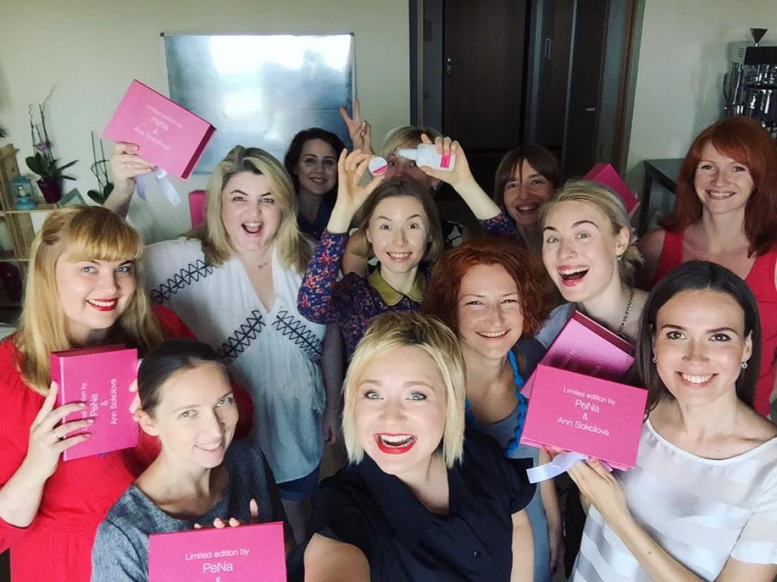 Блогер Анна Соколова на презентации новых продуктов