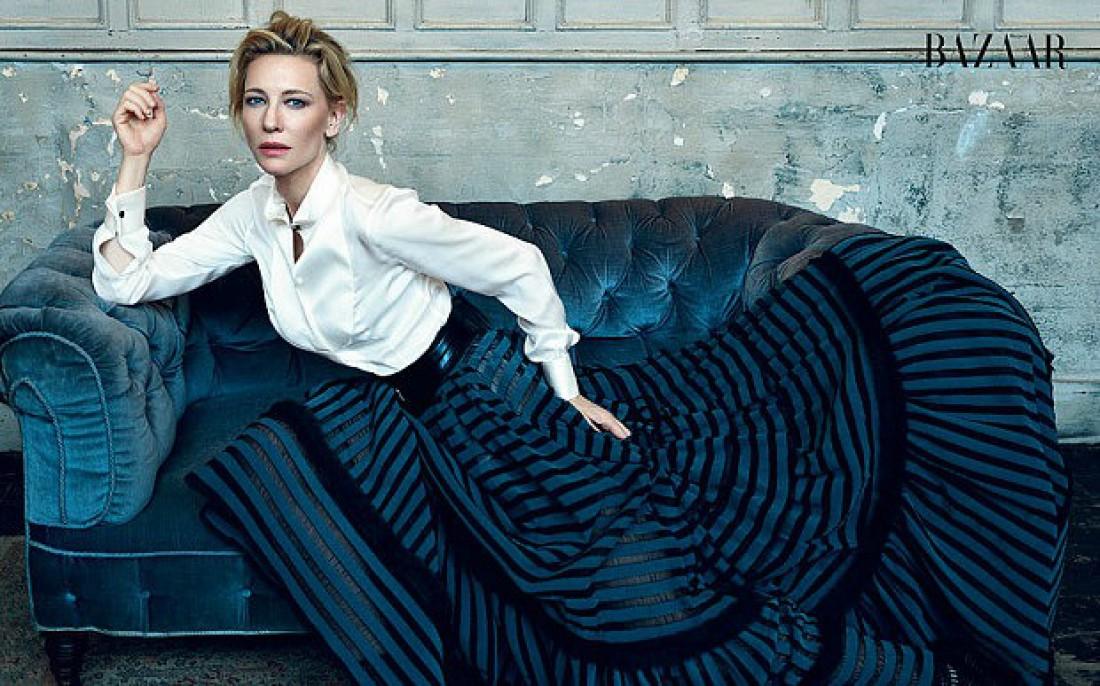 Актриса Кейт Бланшетт для Harper's Bazaar