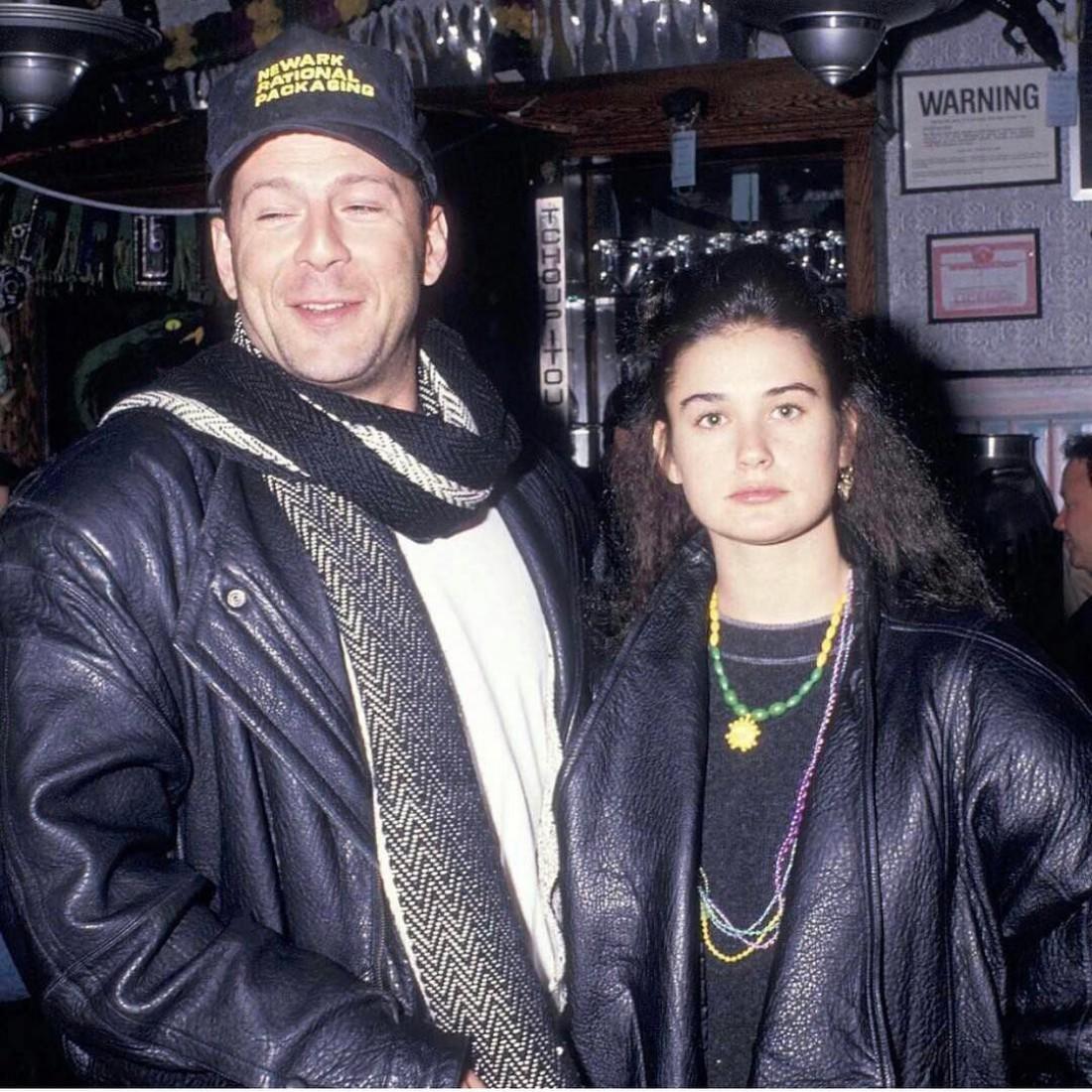 Брюс Уиллис и Деми Мур. Фото, которое опубликовал Потап