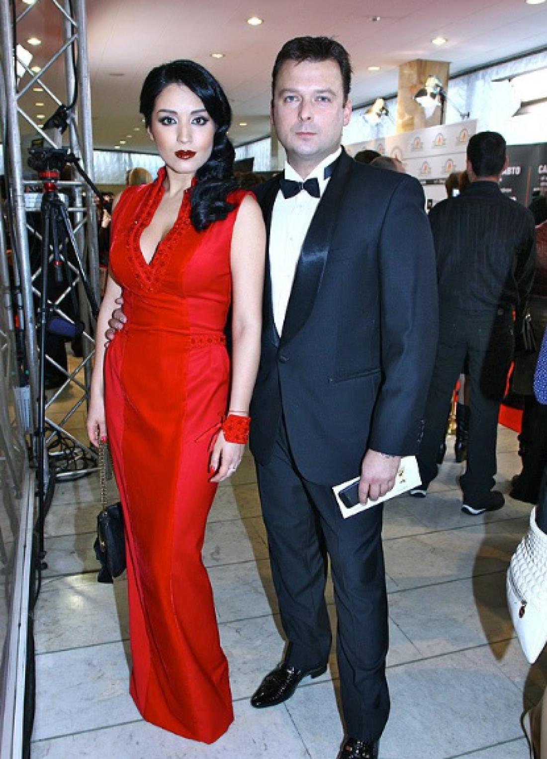 Ангелина Завальская с мужем, ведущим, Александром Колодием
