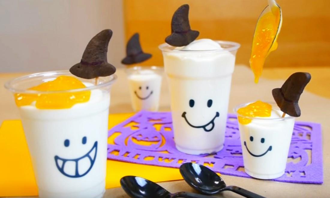 Йогуртовый мусс на Хэллоуин