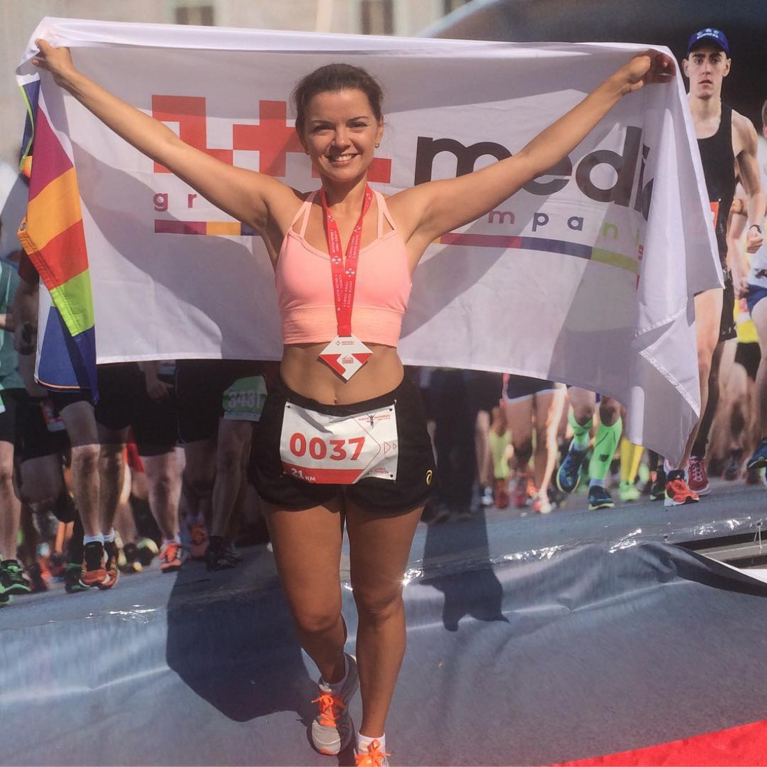 Маричка Падалко активно занимается спортом