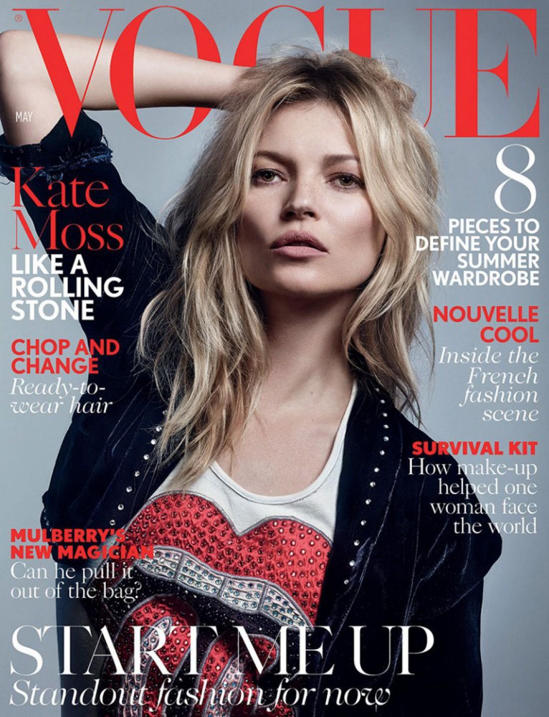 Кейт Мосс на майской обложке Vogue