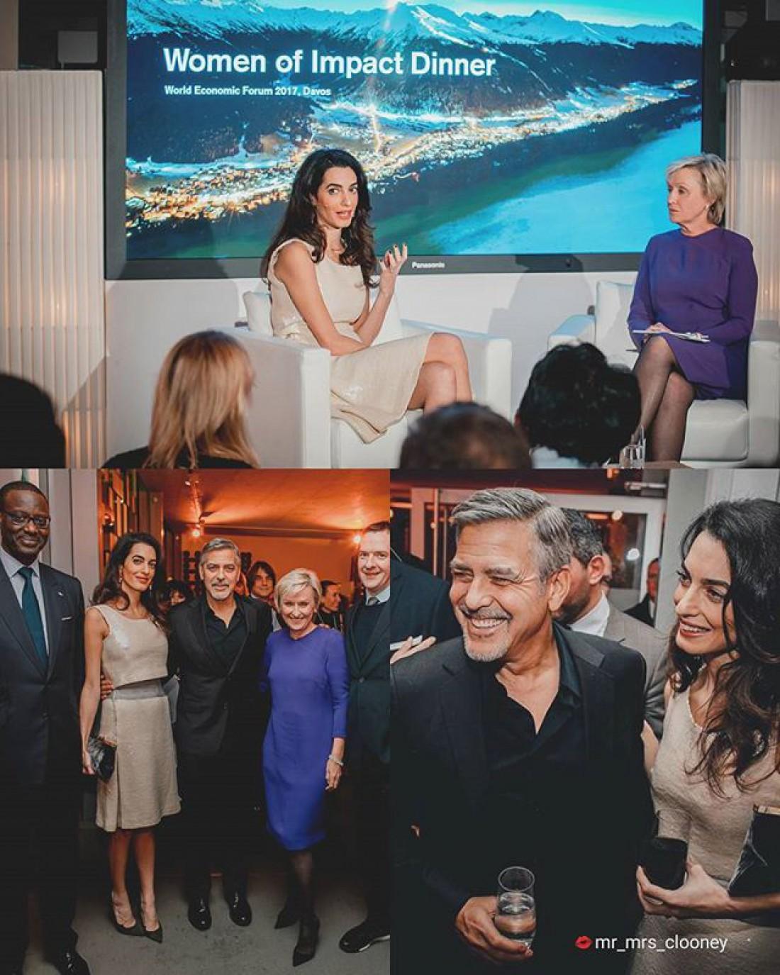 Супруги Клуни посетили Всемирный экономический форум в Давосе, Швейцария