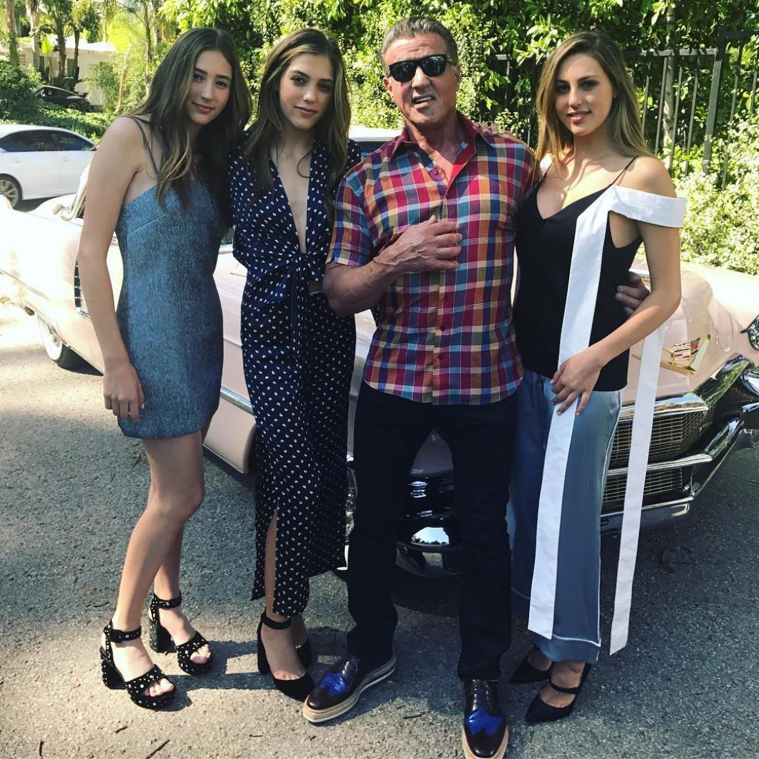 Сильвестер Сталлоне с дочками