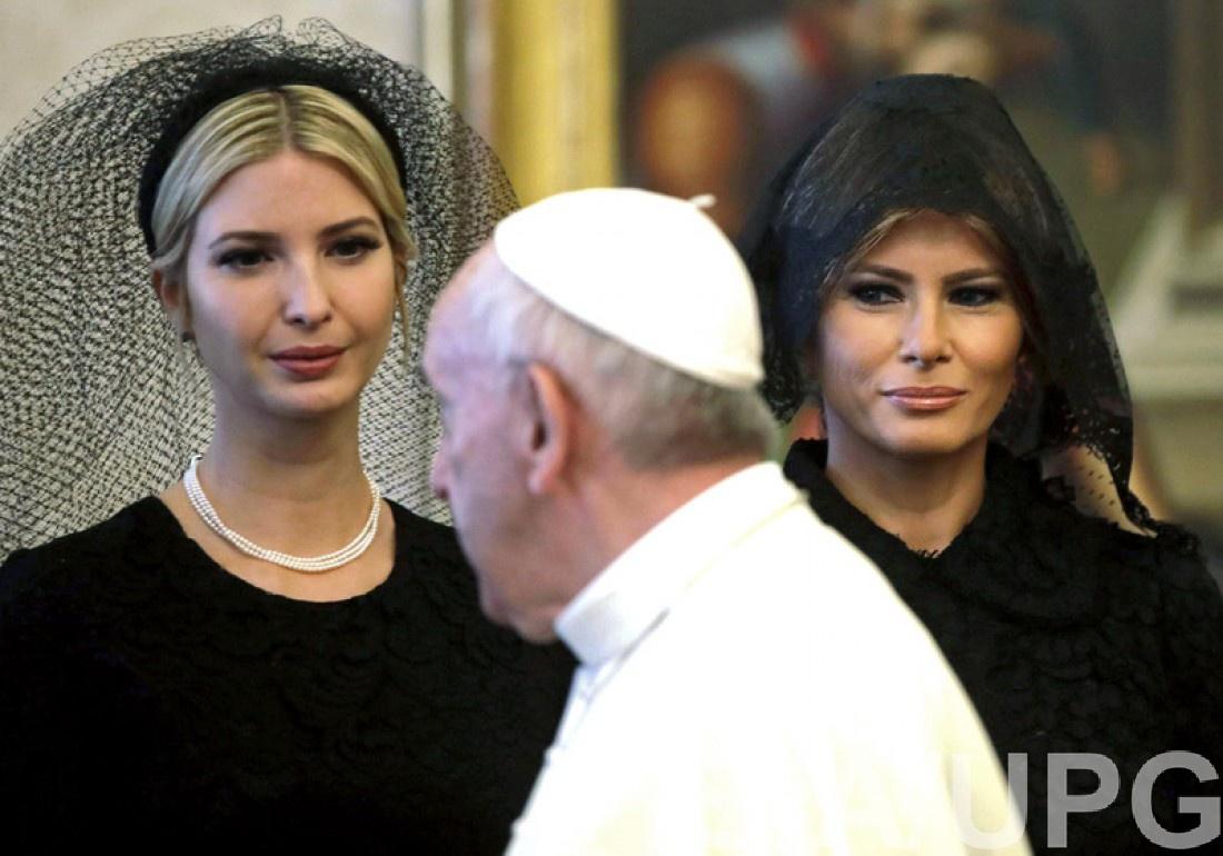 Меланья и Иванка Трамп встретились с Папой Римским в Ватикане