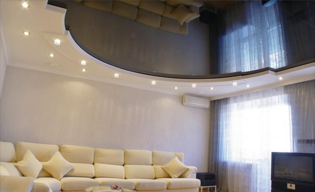 Волны из гипсокартона на потолке