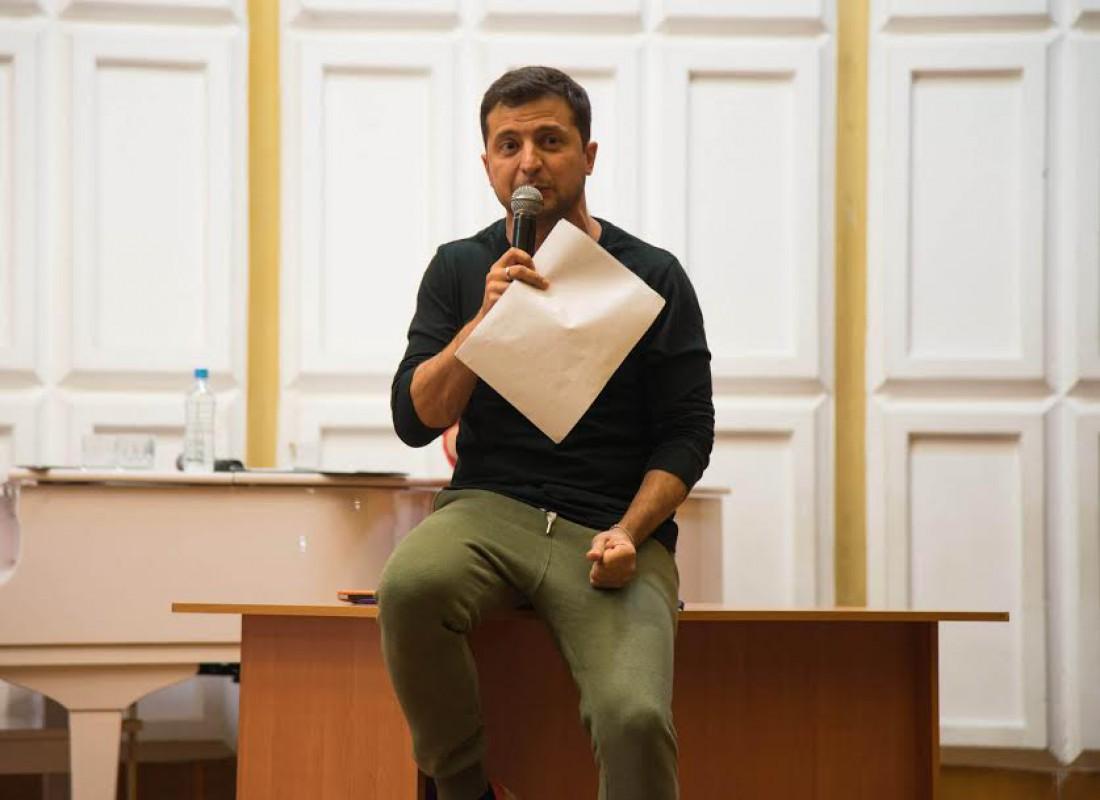 Владимир Зеленский на встрече со студентами Мариуполя