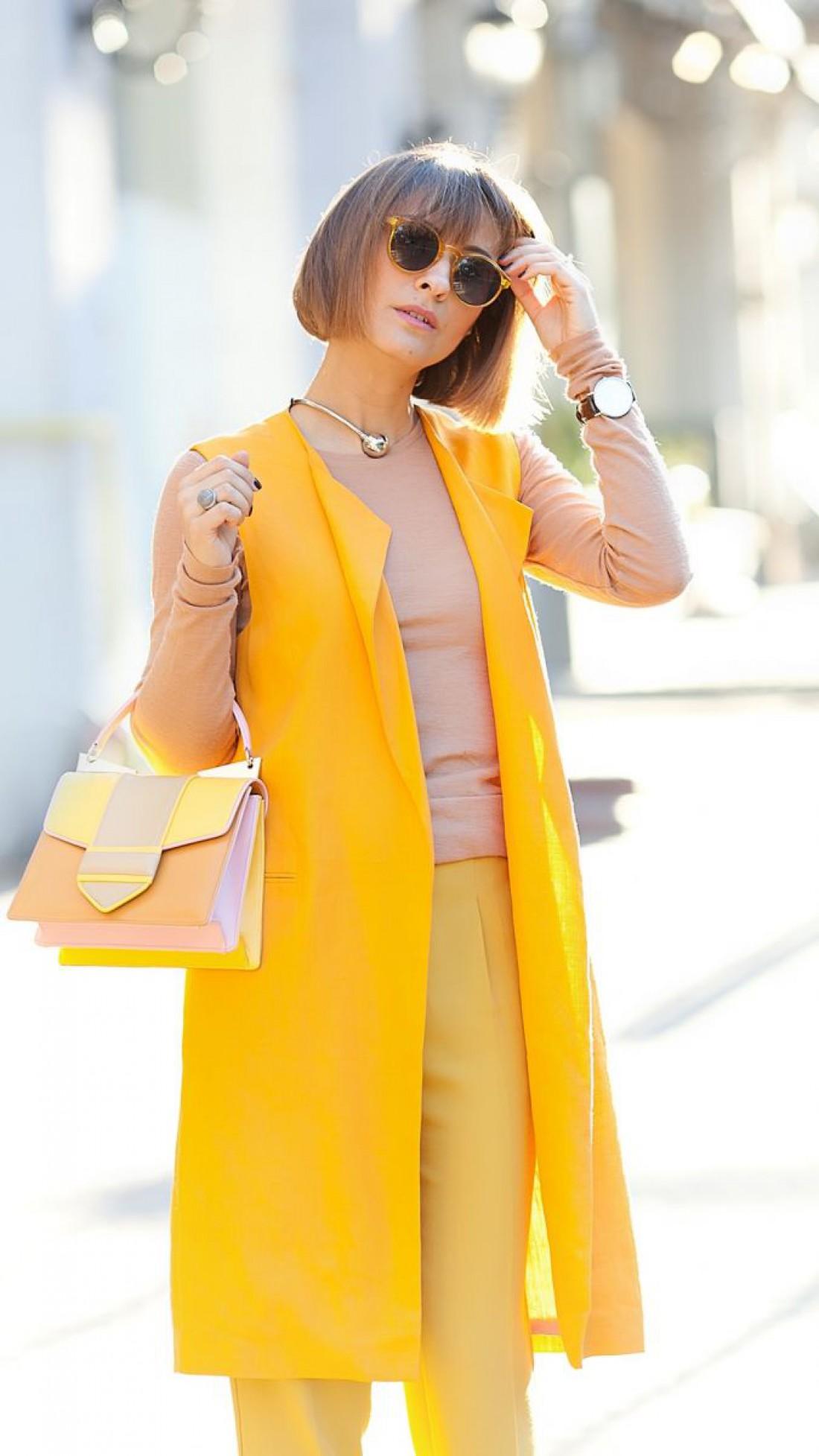 Образы в желтых оттенках