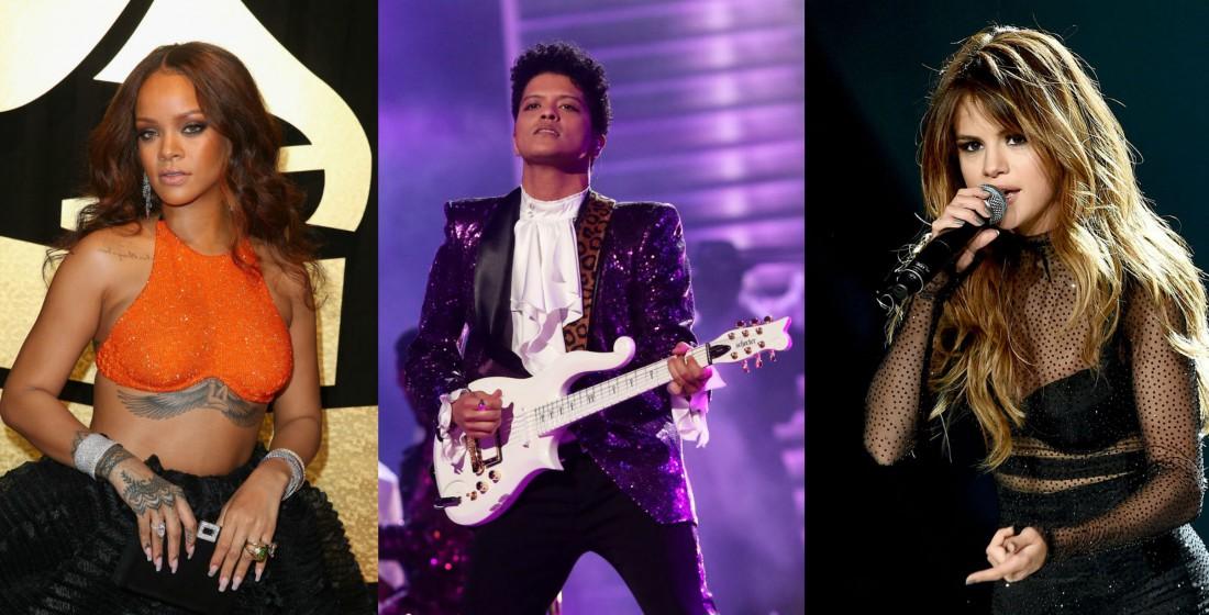 Billboard Music Awards 2017: Рианна, Бруно Марс и Селена Гомес