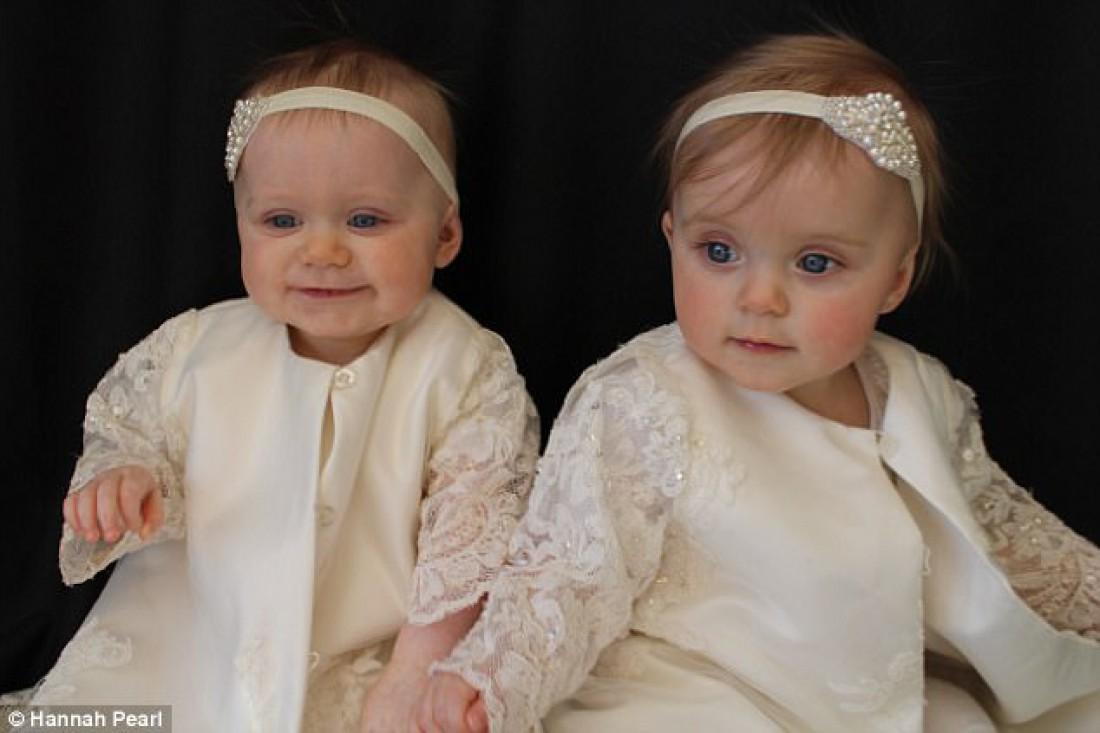 Мэдисон и София через год после рождения