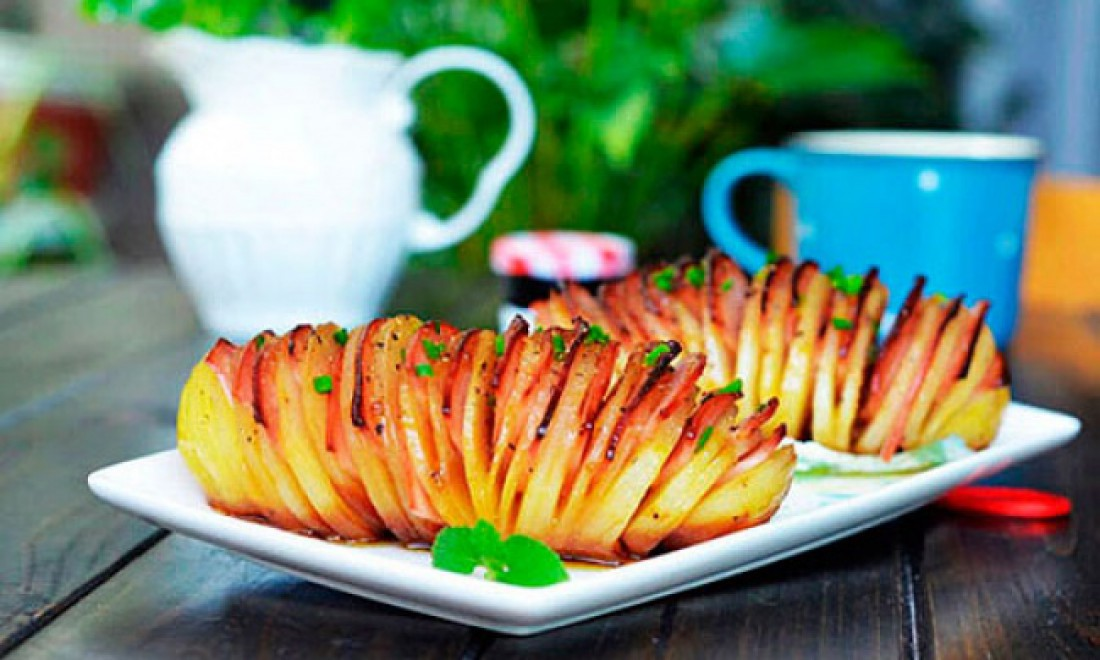 Картошка-гармошка: Рецепт
