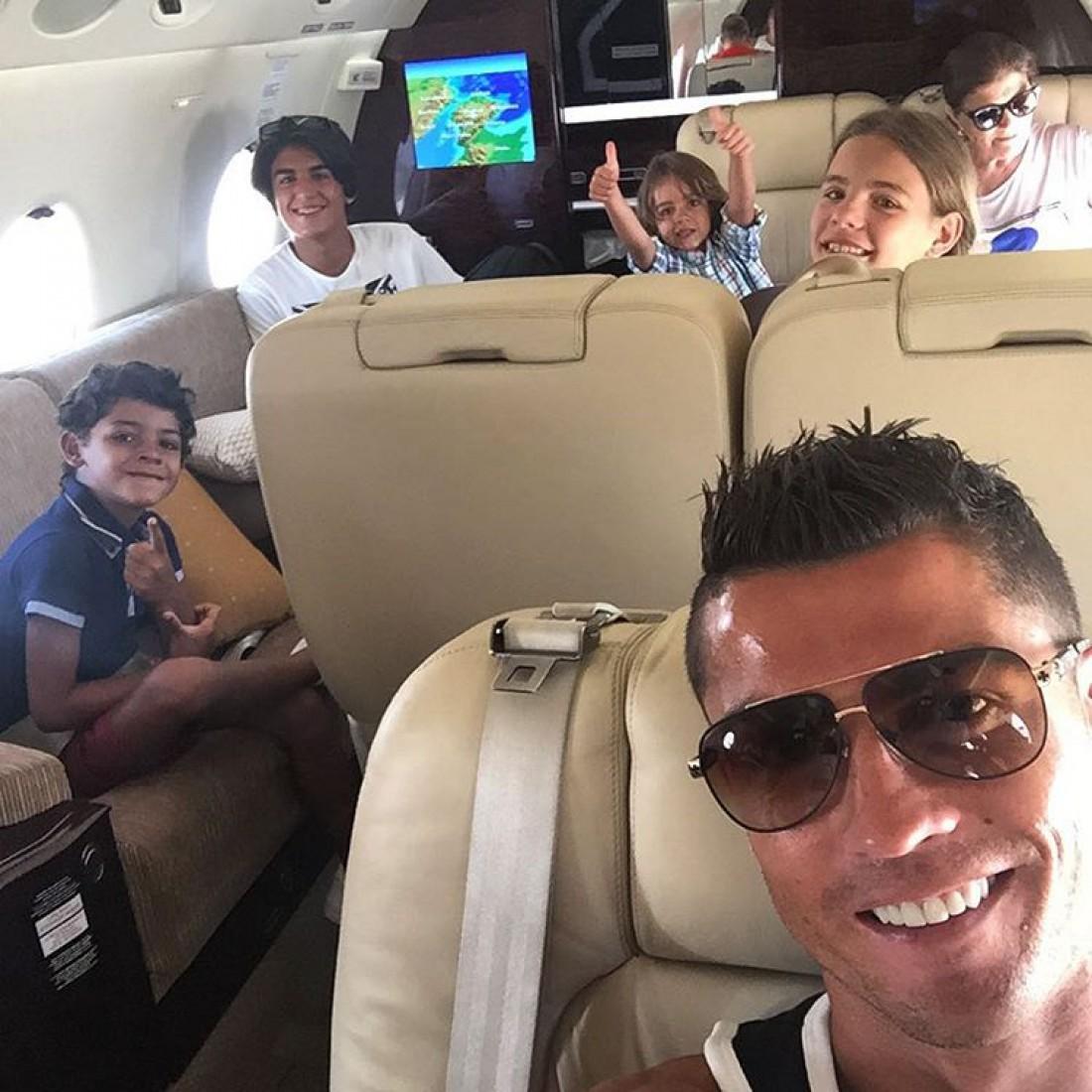Роналду отправился на отдых