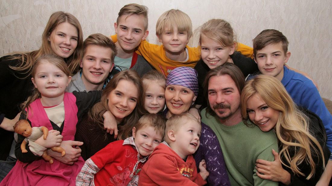 Ирина Арсентьева с детьми