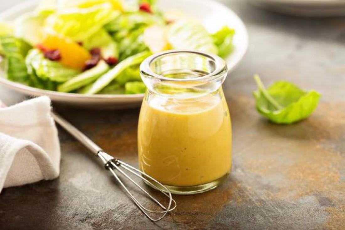 Вкусный салат для романтического ужина - Диетический овощной салат с медово-горчичной заправкой