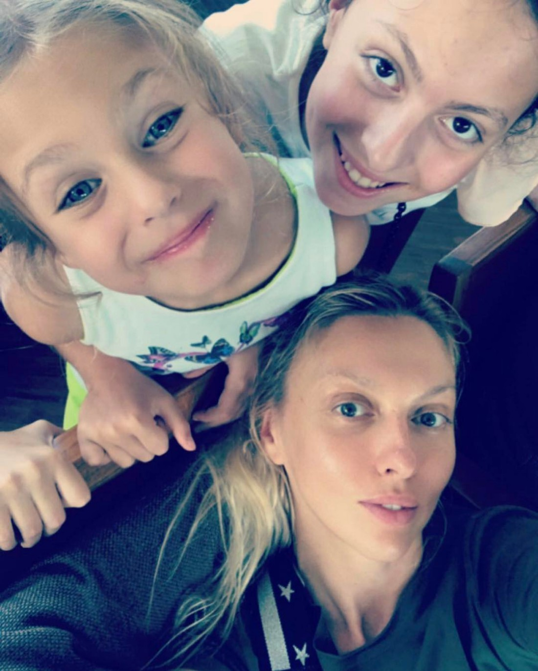 Полякова с дочками