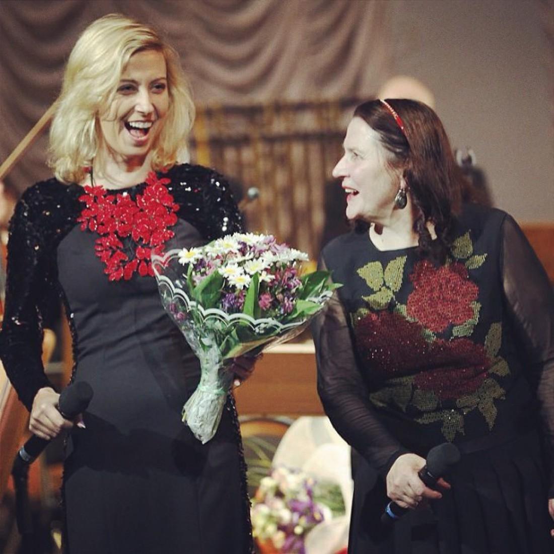 Тоня Матвиенко с мамой Ниной Матвиенко