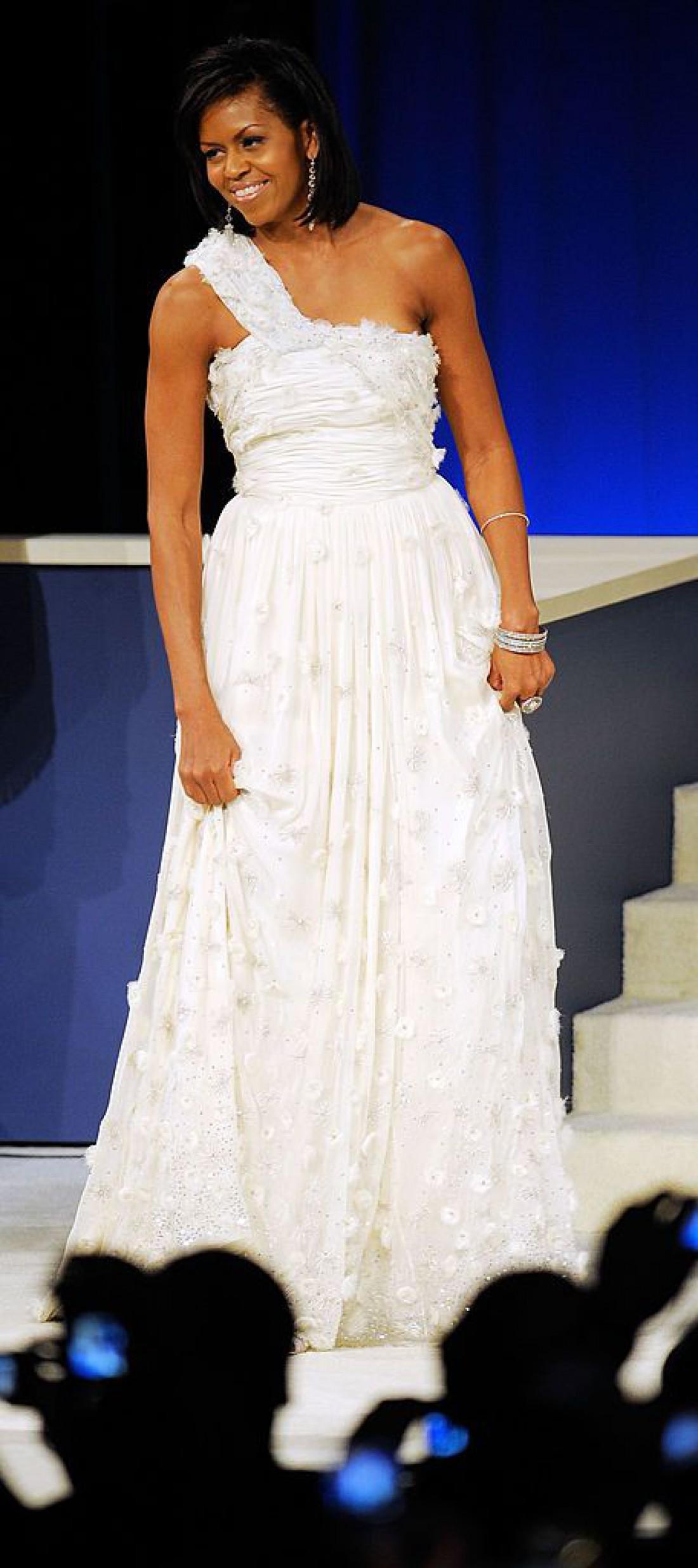 Мишель Обама на инаугурации в наряде от Jason Wu