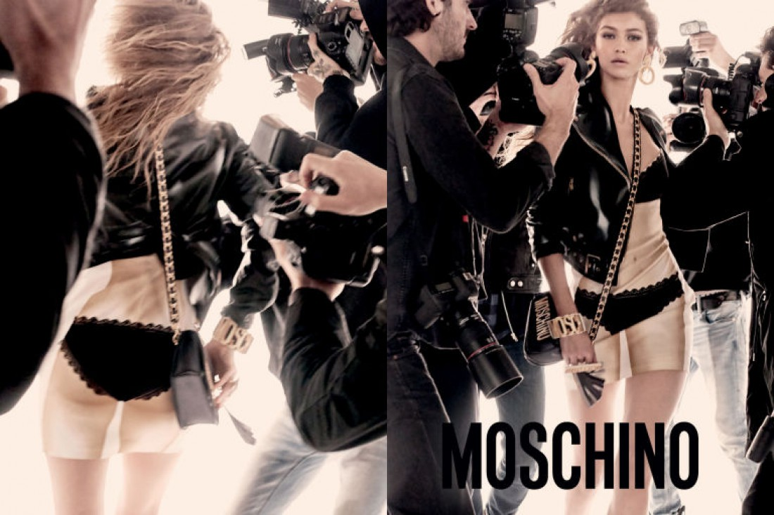 Джиджи Хадид в рекламной кампании Moschino