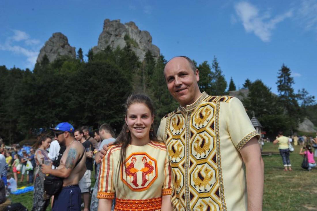 Андрей Парубий на фестивале Тустань