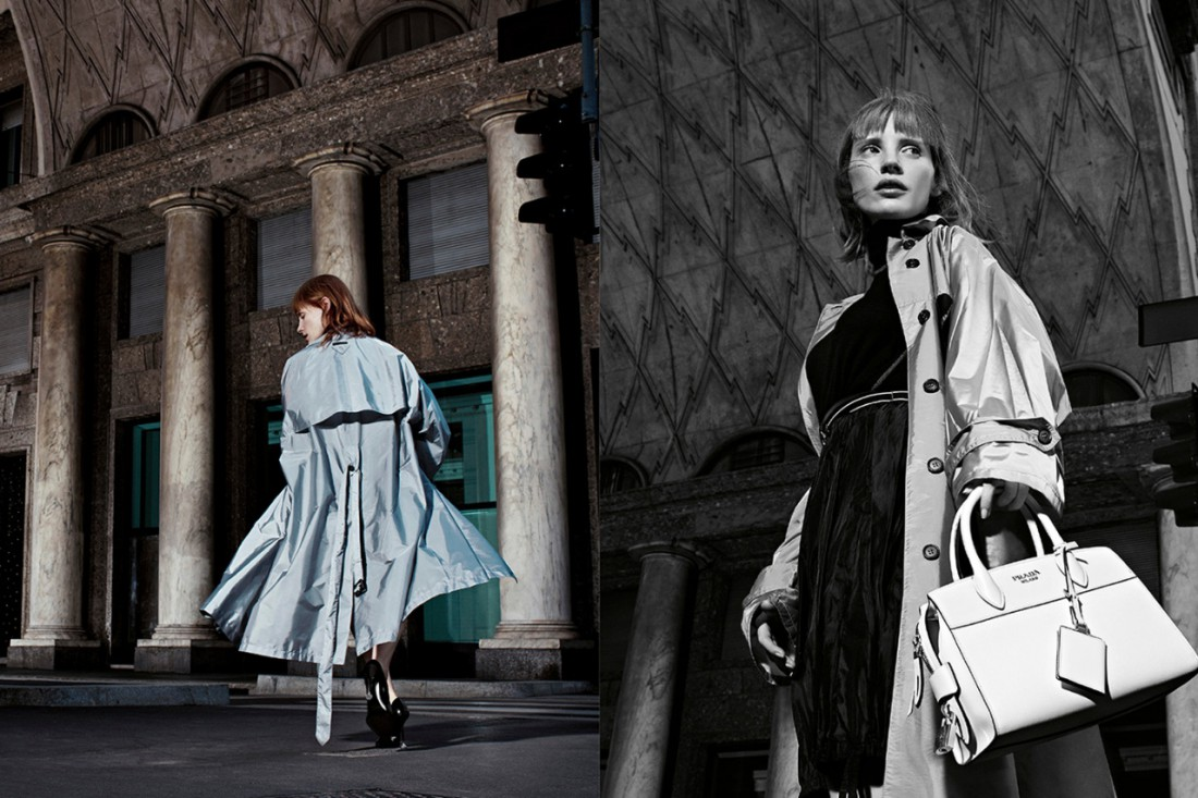 Джессика Честейн в рекламной кампании Prada