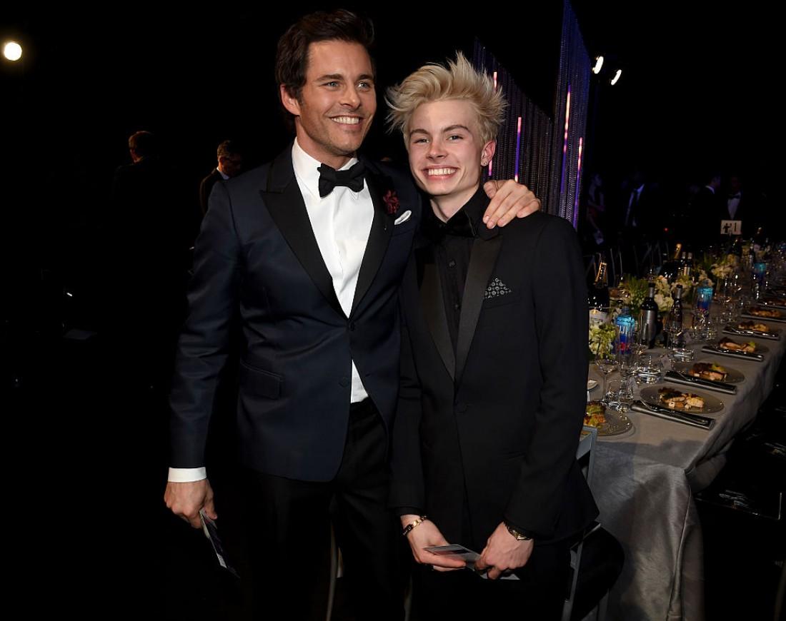 Джеймс Марсден с сыном