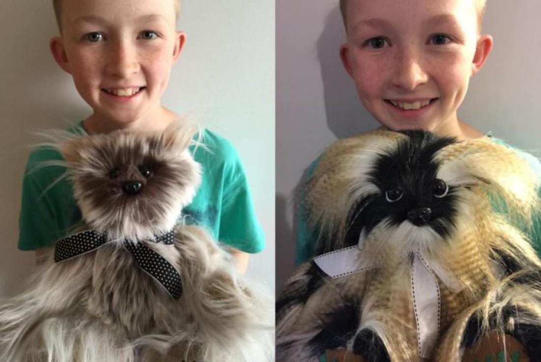 12-летний мальчик шьетт медвежат для больных детей